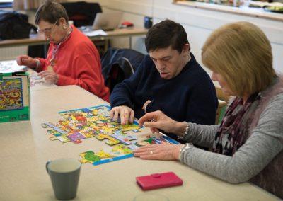 Richard doing a jigsaw