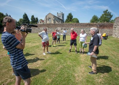 Tony O'Connor at Waltham Abbey Church Grounds